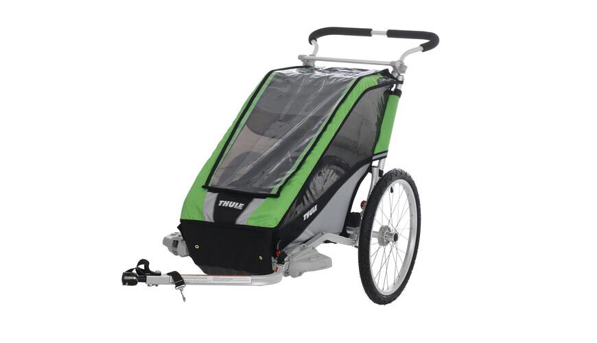 Thule Chariot Cheetah 1 + fietsset groen